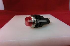 Controle lamp rood voor laadstroom indicatie.