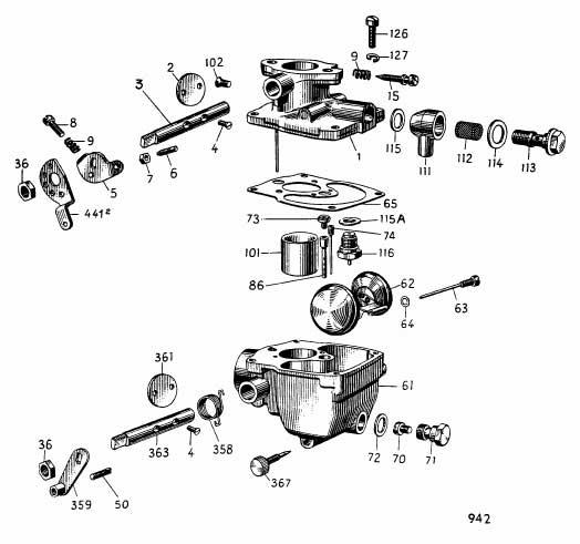 Albin O21 Carburateur