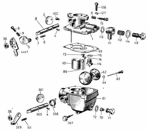 Albin O41 Carburateur 26VN 901/902/903