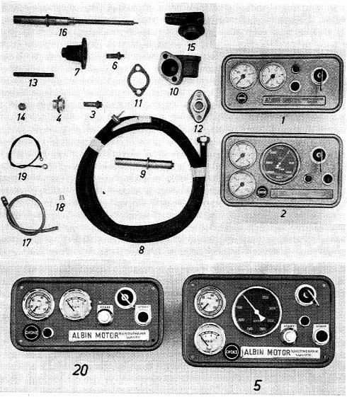 Albin O41 / O411 Instrumentenpaneel