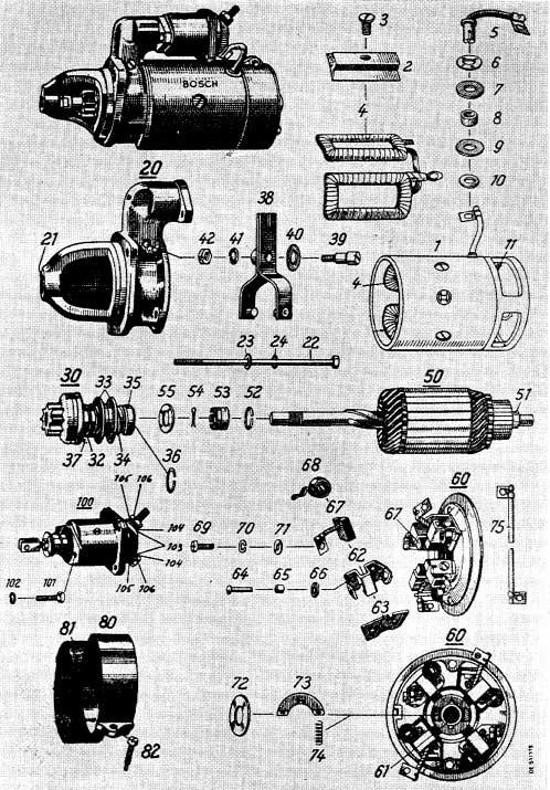 Albin O41 / O411 Startmotor Bosch